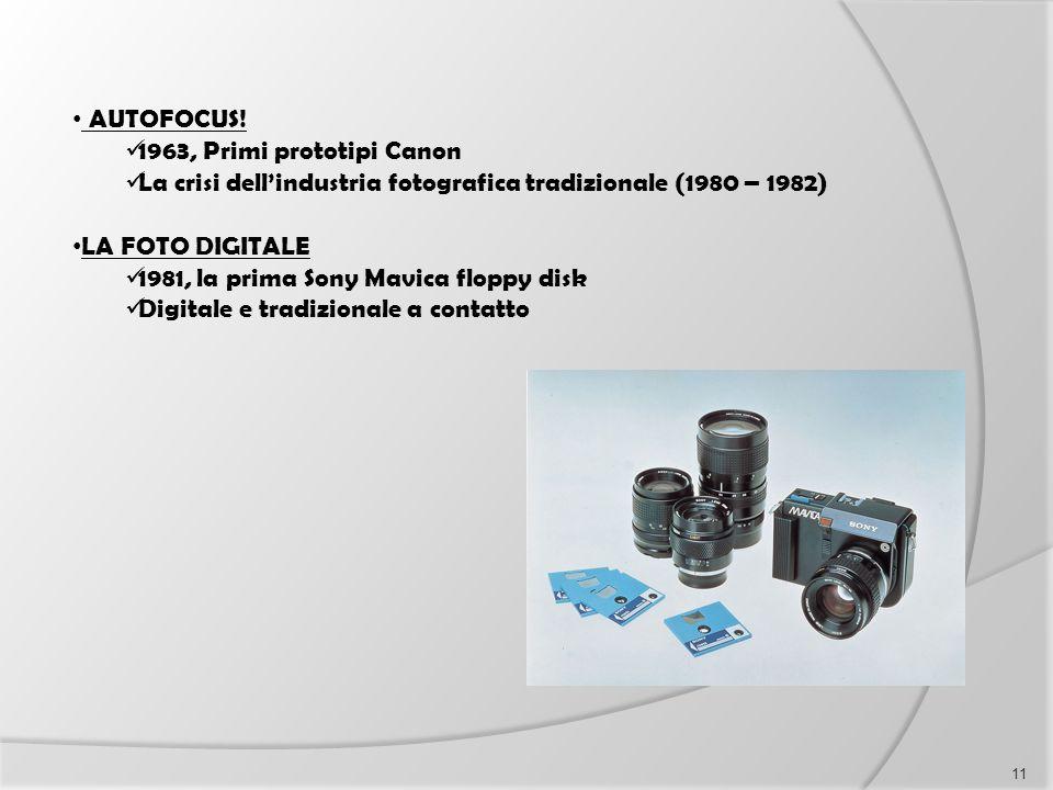 AUTOFOCUS! 1963, Primi prototipi Canon. La crisi dell'industria fotografica tradizionale (1980 – 1982)