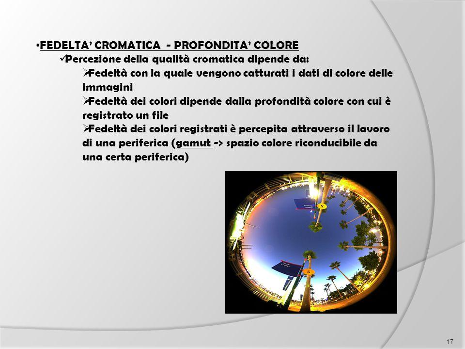 FEDELTA' CROMATICA - PROFONDITA' COLORE