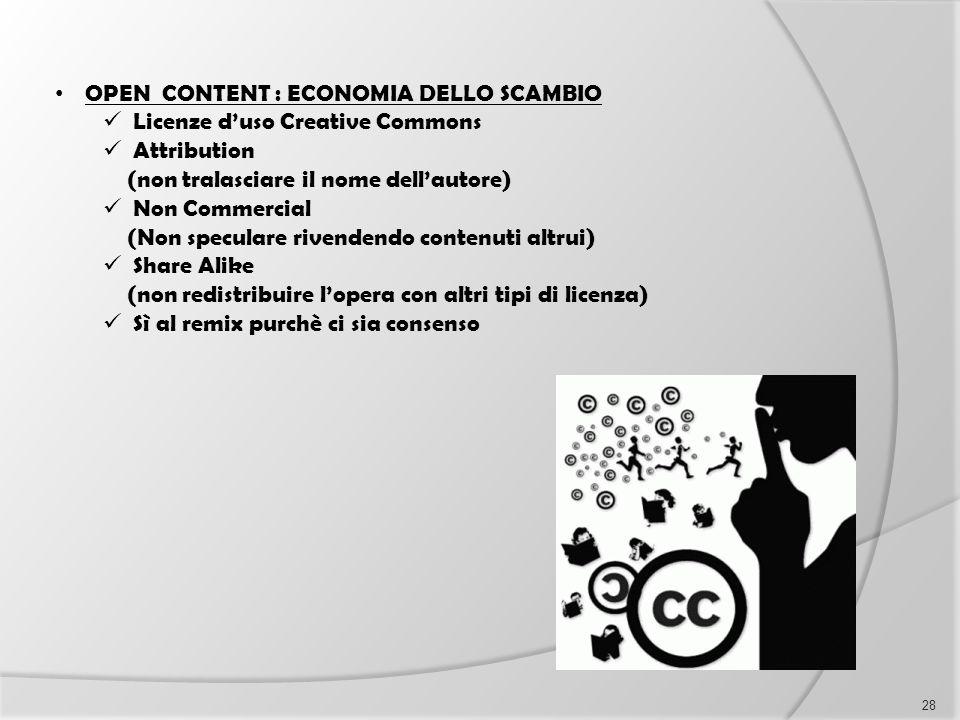 OPEN CONTENT : ECONOMIA DELLO SCAMBIO
