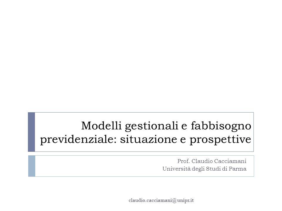 Prof. Claudio Cacciamani Università degli Studi di Parma