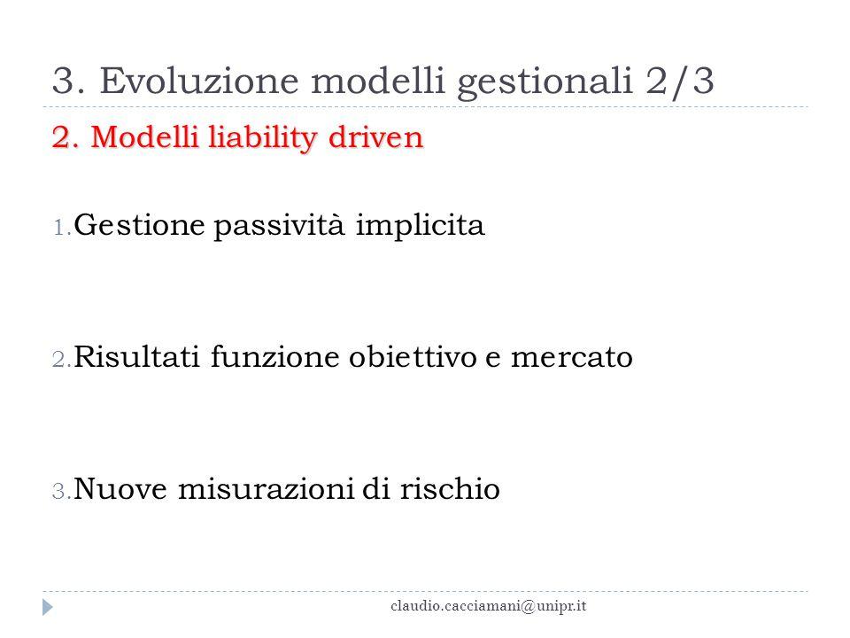 3. Evoluzione modelli gestionali 2/3
