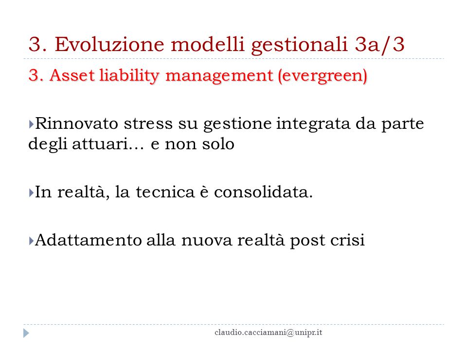 3. Evoluzione modelli gestionali 3a/3