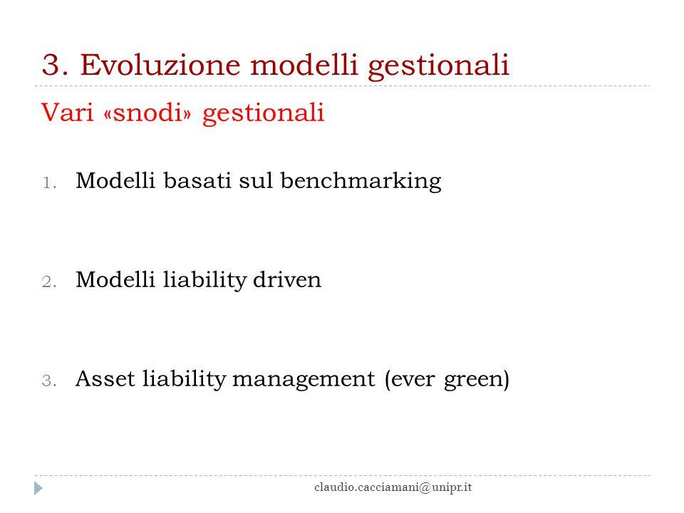 3. Evoluzione modelli gestionali