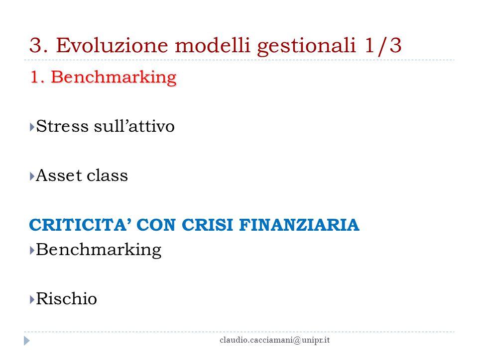 3. Evoluzione modelli gestionali 1/3
