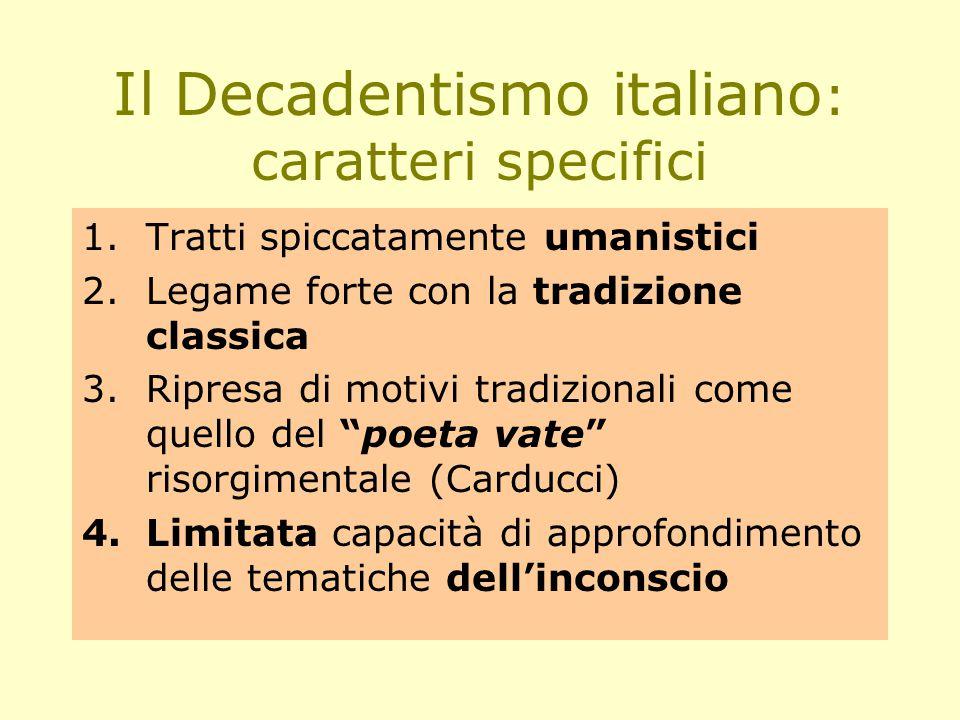 Il Decadentismo italiano: caratteri specifici