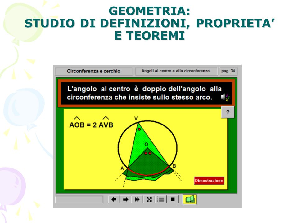 GEOMETRIA: STUDIO DI DEFINIZIONI, PROPRIETA' E TEOREMI