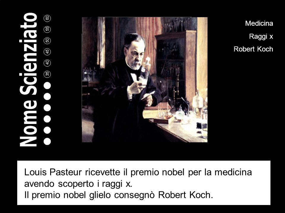 Il premio nobel glielo consegnò Robert Koch.