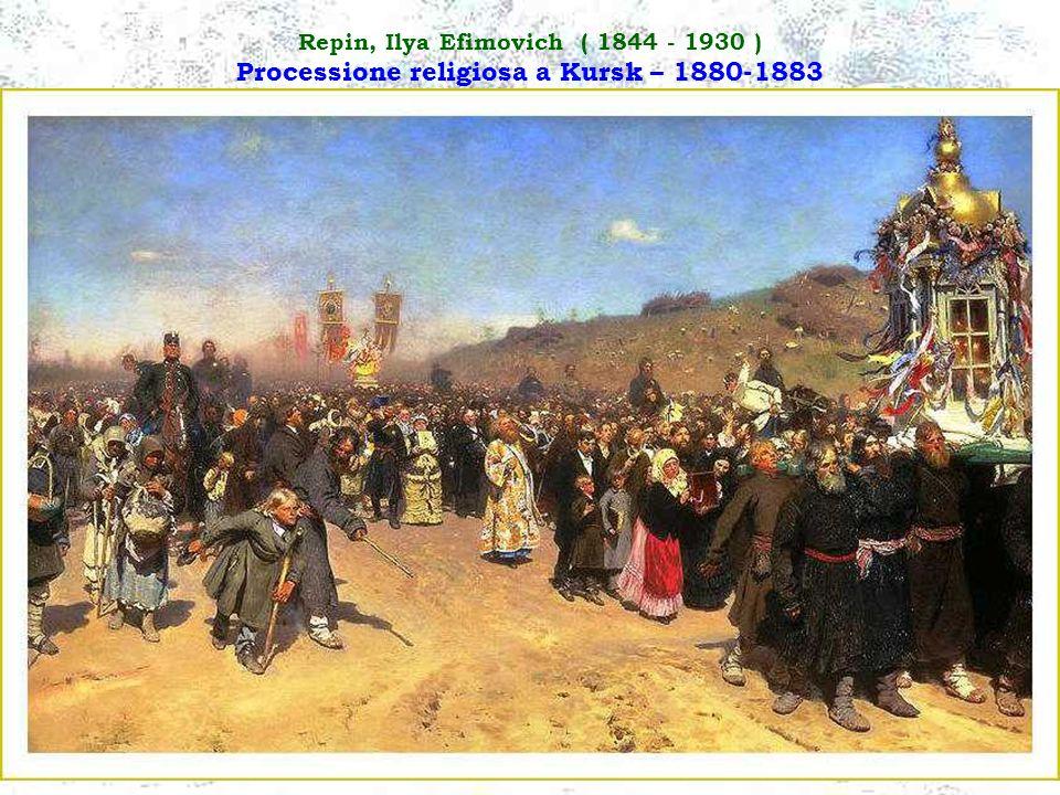Repin, Ilya Efimovich ( 1844 - 1930 ) Processione religiosa a Kursk – 1880-1883