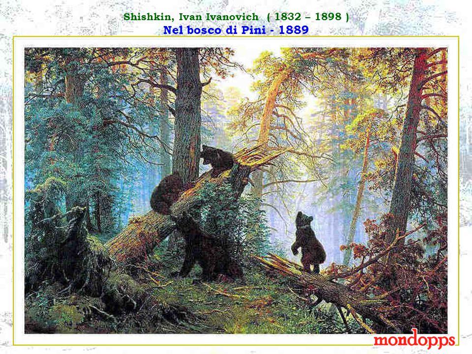 Shishkin, Ivan Ivanovich ( 1832 – 1898 ) Nel bosco di Pini - 1889