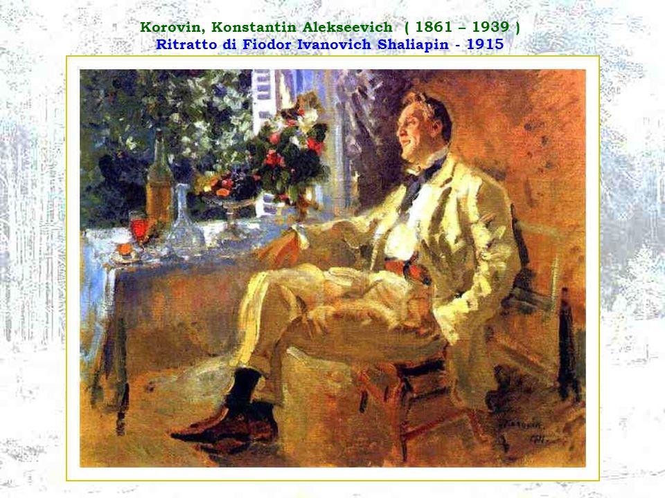 Korovin, Konstantin Alekseevich ( 1861 – 1939 ) Ritratto di Fiodor Ivanovich Shaliapin - 1915