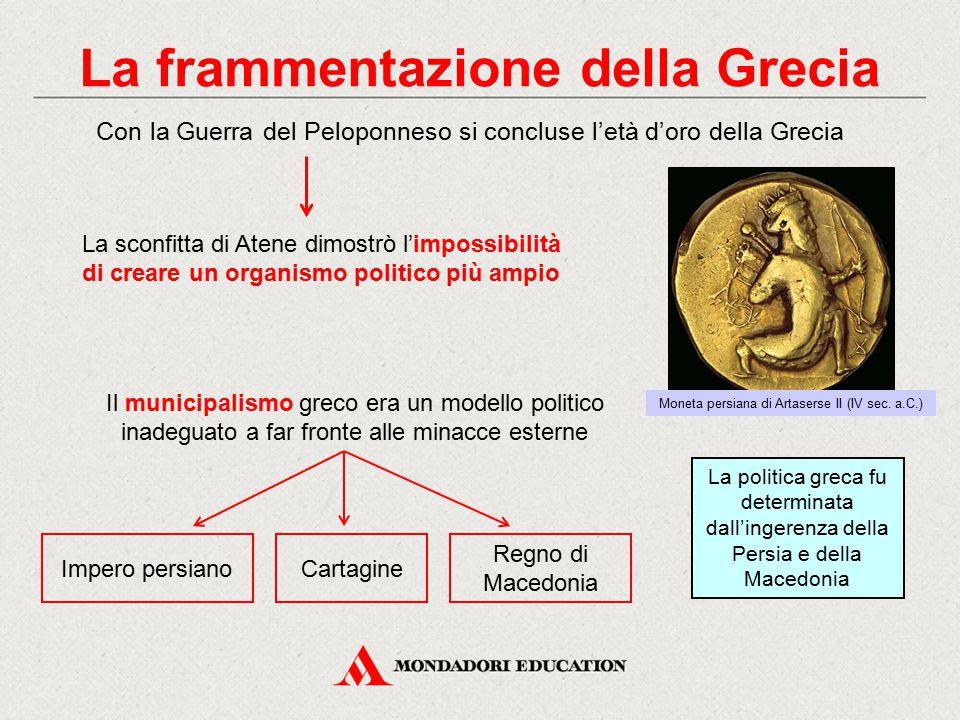 La frammentazione della Grecia