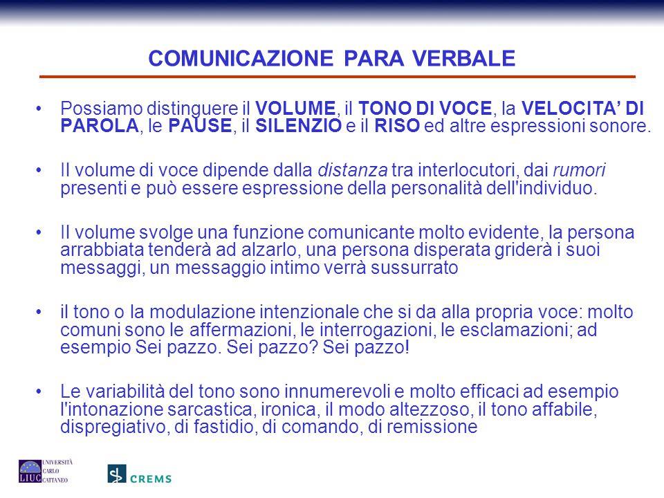 COMUNICAZIONE PARA VERBALE