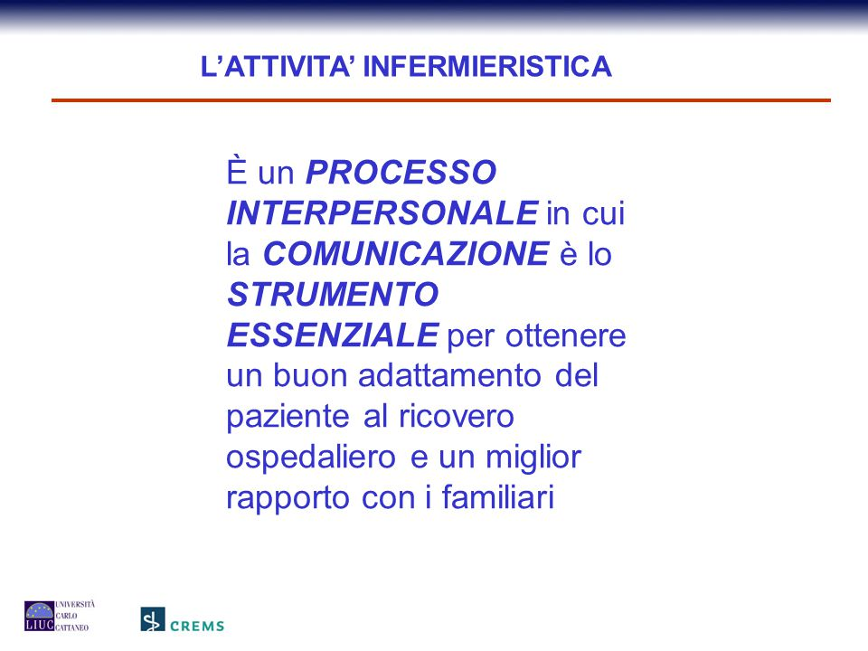 L'ATTIVITA' INFERMIERISTICA