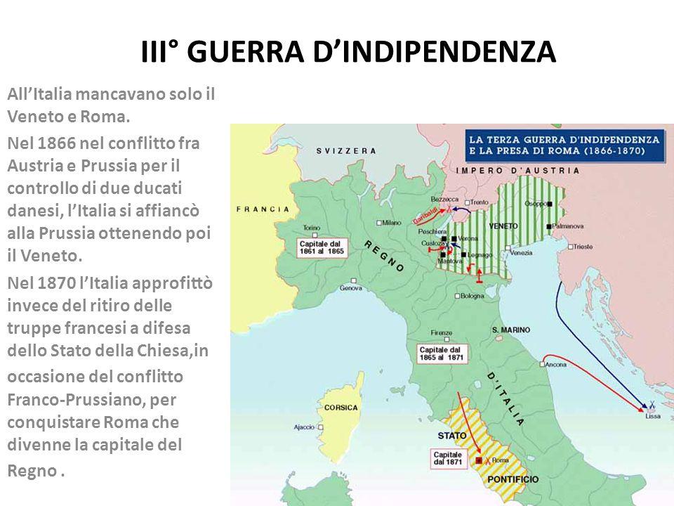 III° GUERRA D'INDIPENDENZA