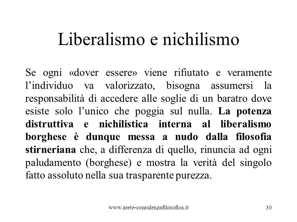Liberalismo e nichilismo