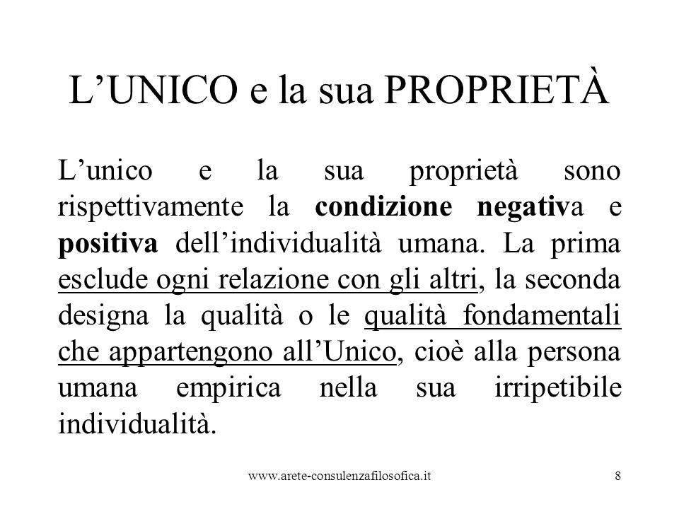 L'UNICO e la sua PROPRIETÀ