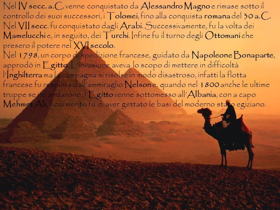Nel IV secc. a.C. venne conquistato da Alessandro Magno e rimase sotto il controllo dei suoi successori, i Tolomei, fino alla conquista romana del 30 a.C.
