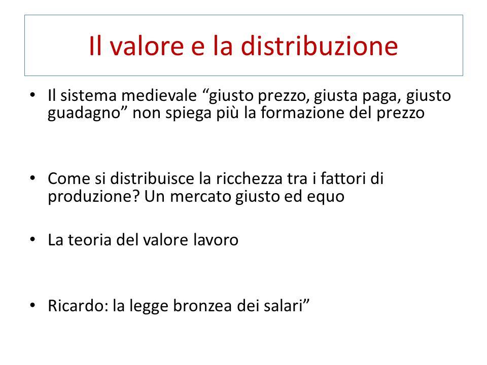 Il valore e la distribuzione