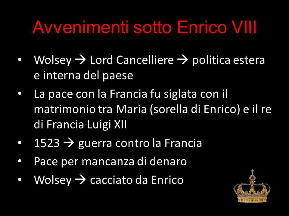 Avvenimenti sotto Enrico VIII