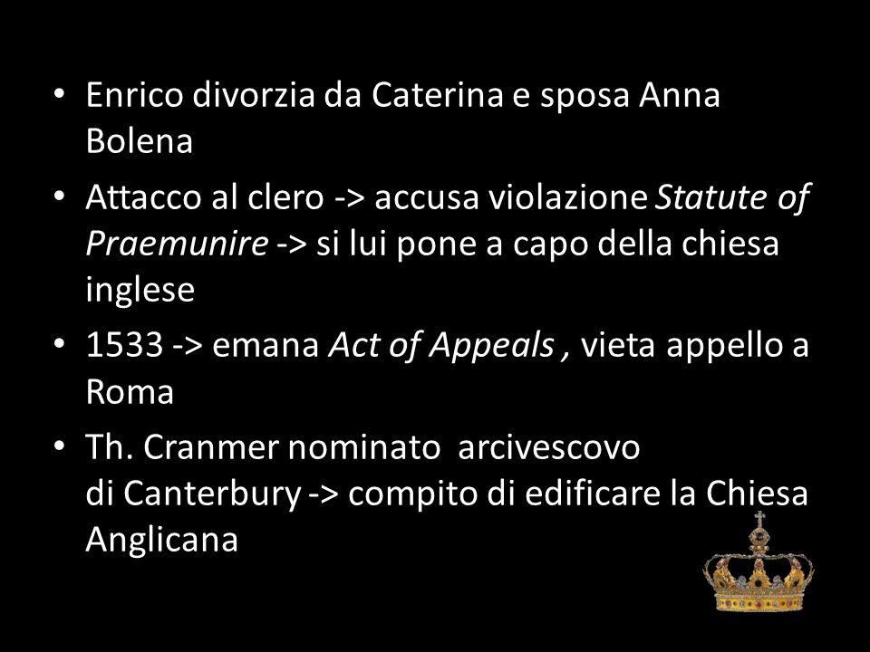 Enrico divorzia da Caterina e sposa Anna Bolena