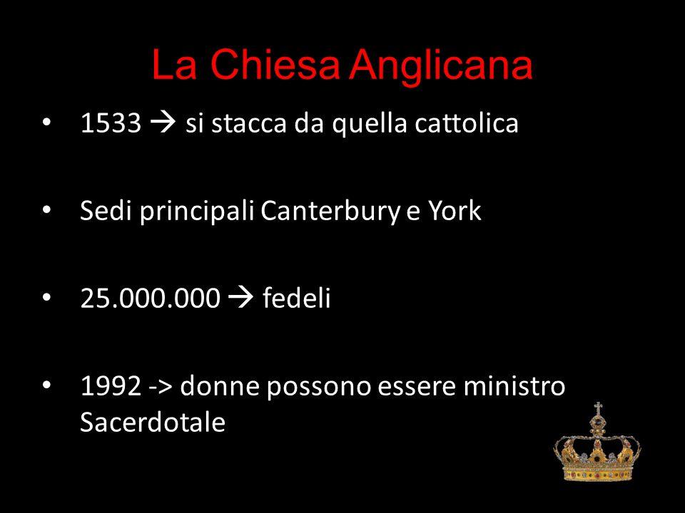 La Chiesa Anglicana 1533  si stacca da quella cattolica