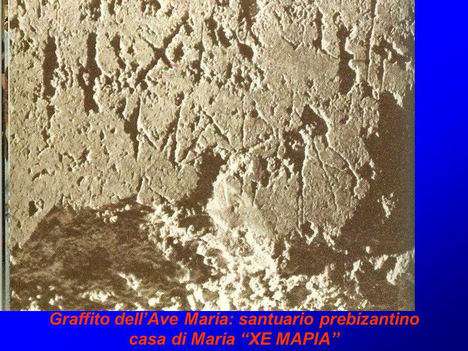Graffito dell'Ave Maria: santuario prebizantino