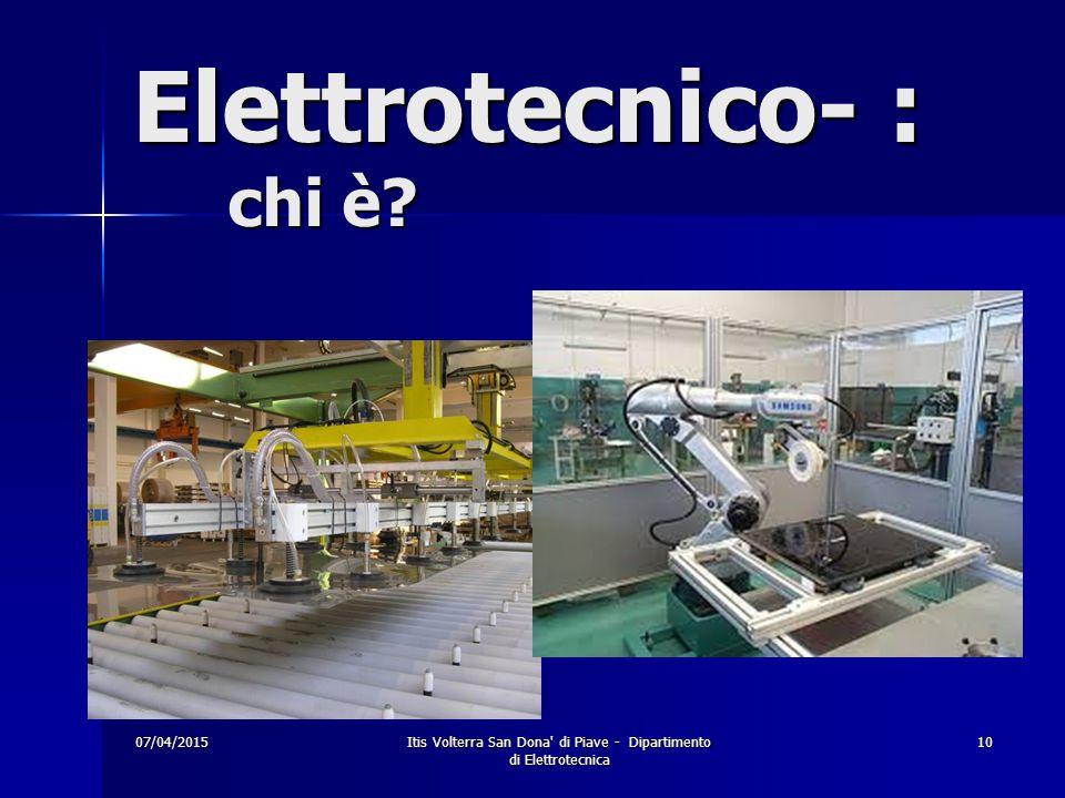 Elettrotecnico- : chi è