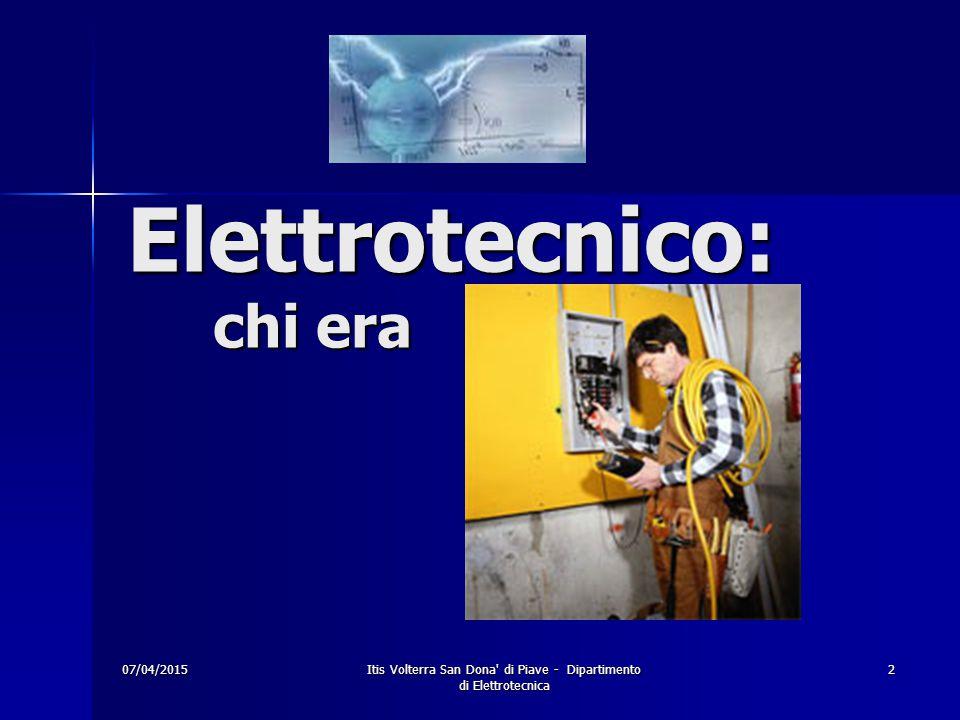Elettrotecnico: chi era