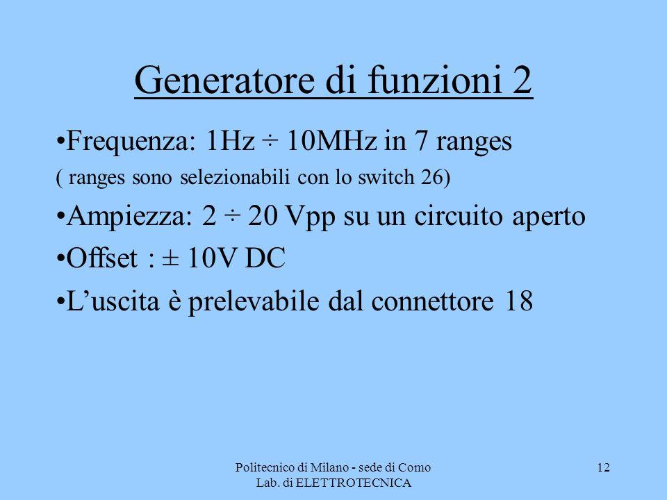 Generatore di funzioni 2