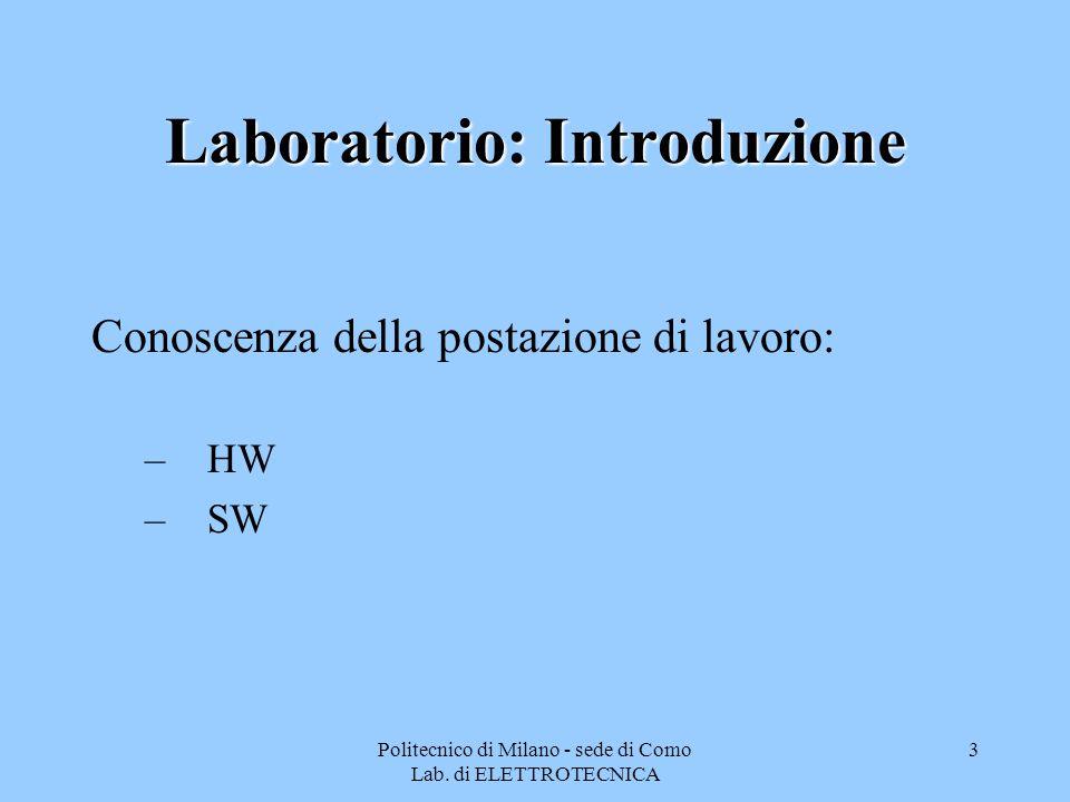 Laboratorio: Introduzione