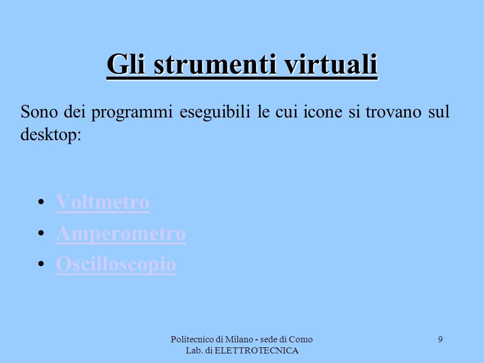 Gli strumenti virtuali