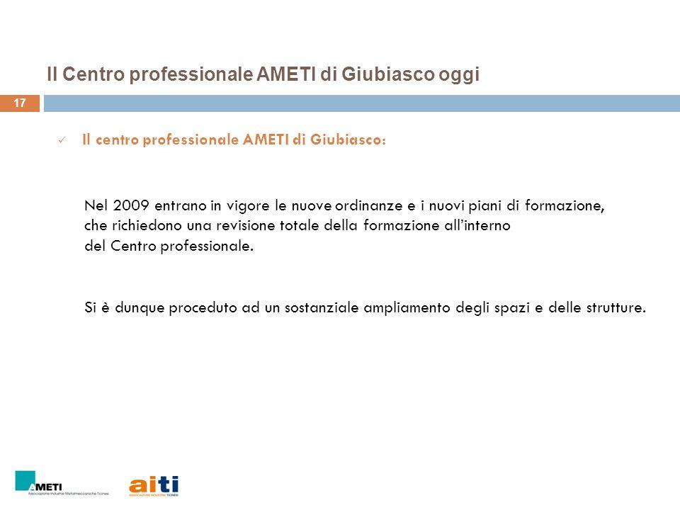 Il Centro professionale AMETI di Giubiasco oggi