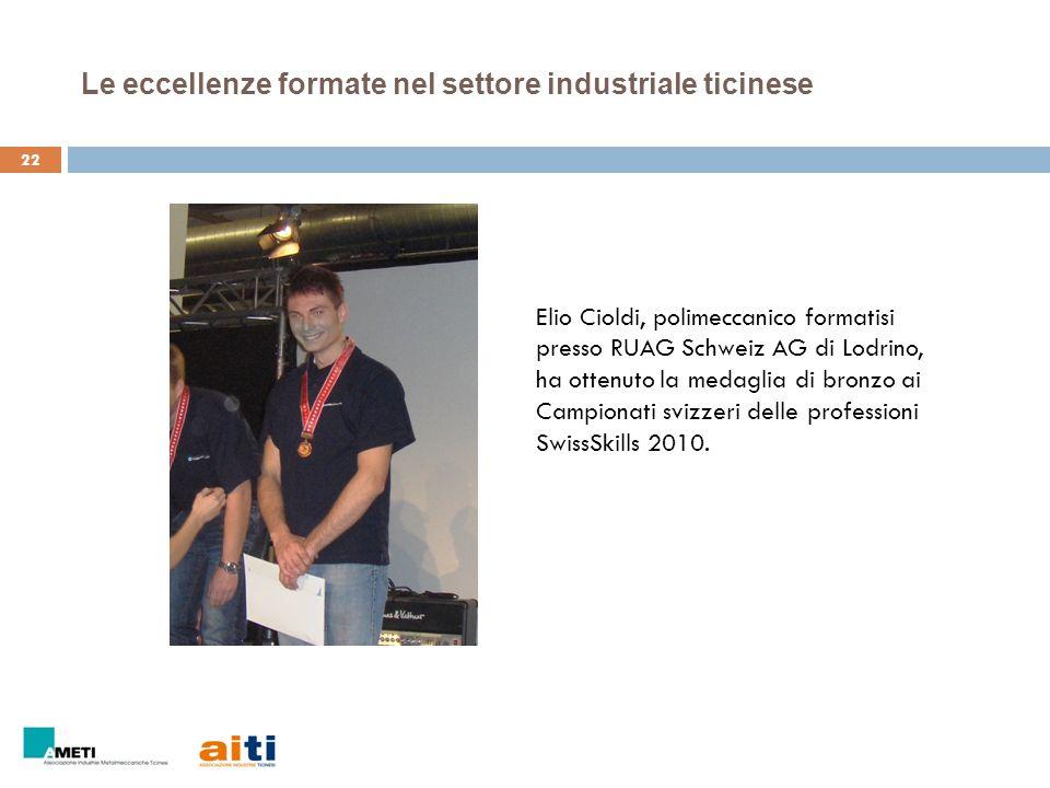 Le eccellenze formate nel settore industriale ticinese