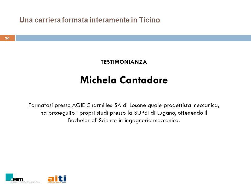 Una carriera formata interamente in Ticino