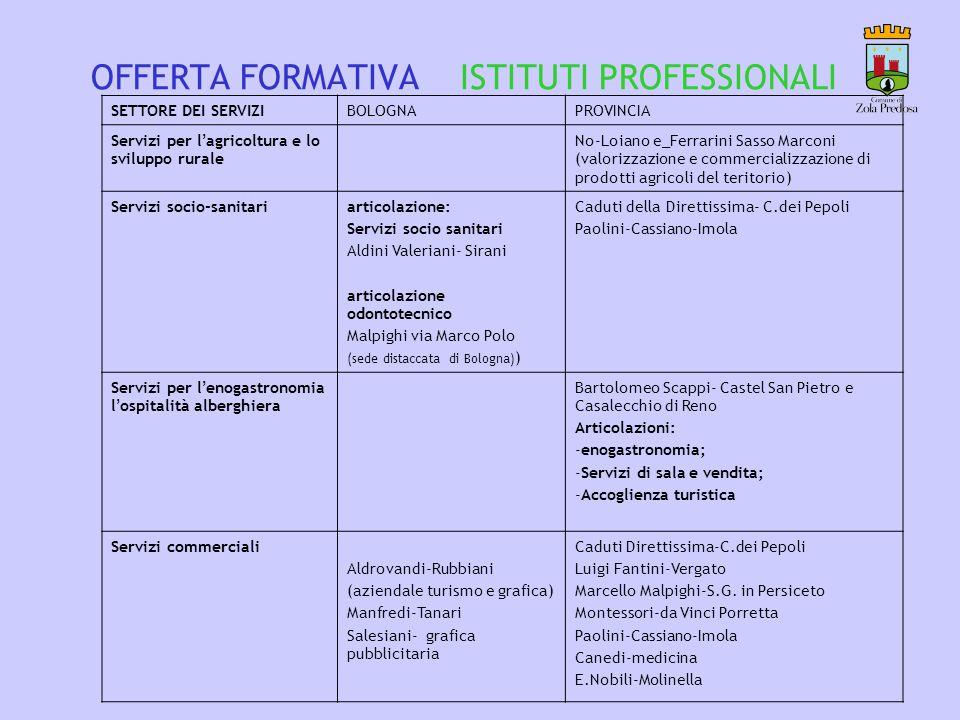 OFFERTA FORMATIVA ISTITUTI PROFESSIONALI