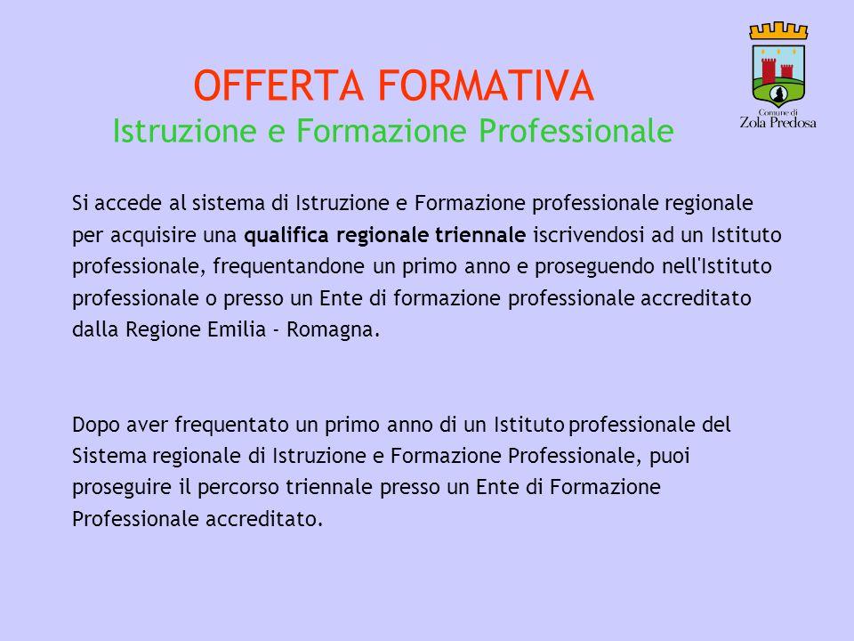 OFFERTA FORMATIVA Istruzione e Formazione Professionale
