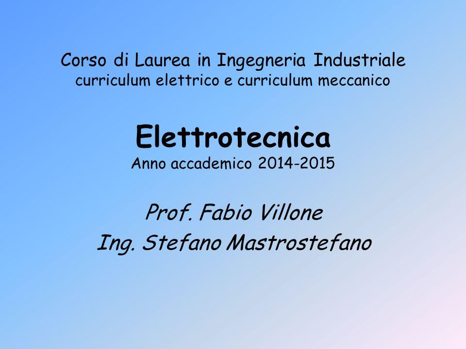 Elettrotecnica Anno accademico 2014-2015