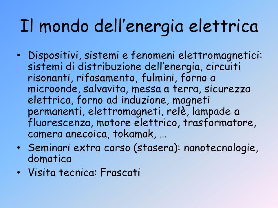 Il mondo dell'energia elettrica