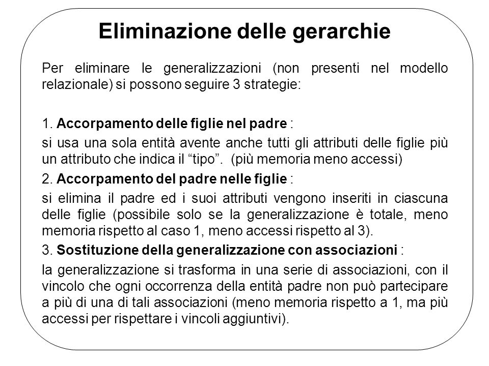 Eliminazione delle gerarchie