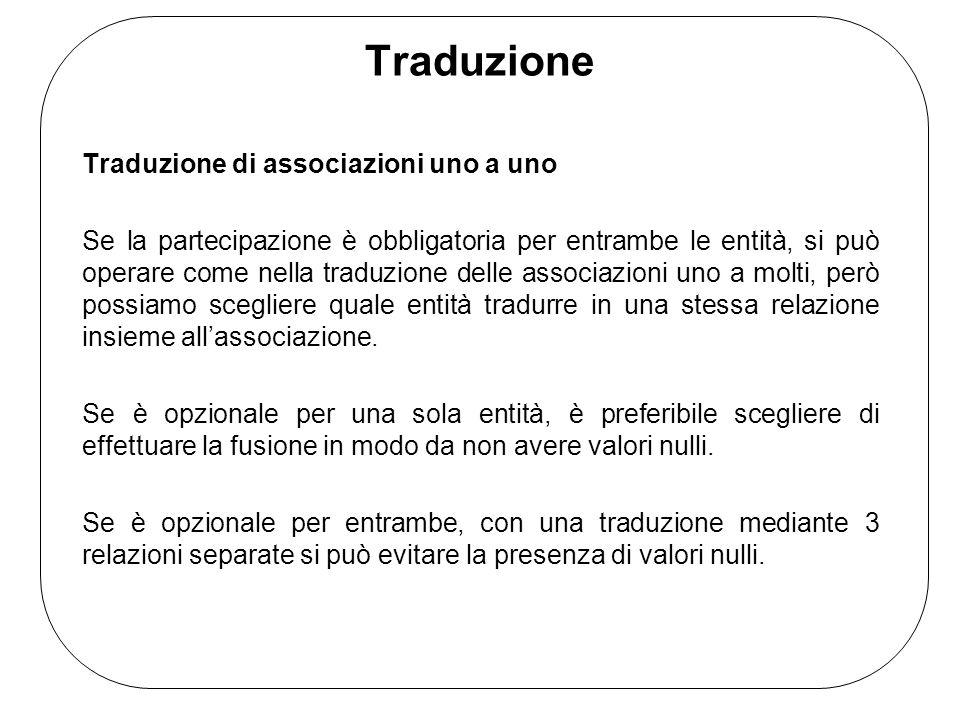 Traduzione Traduzione di associazioni uno a uno