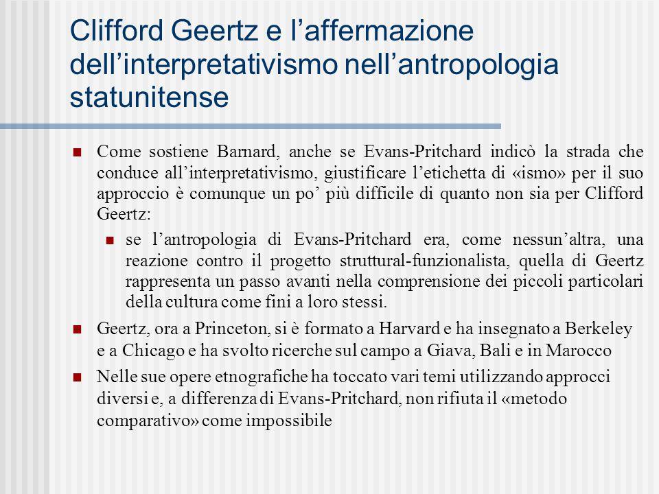 Clifford Geertz e l'affermazione dell'interpretativismo nell'antropologia statunitense
