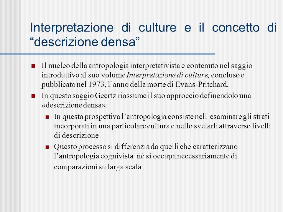 Interpretazione di culture e il concetto di descrizione densa