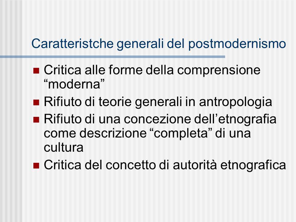 Caratteristche generali del postmodernismo