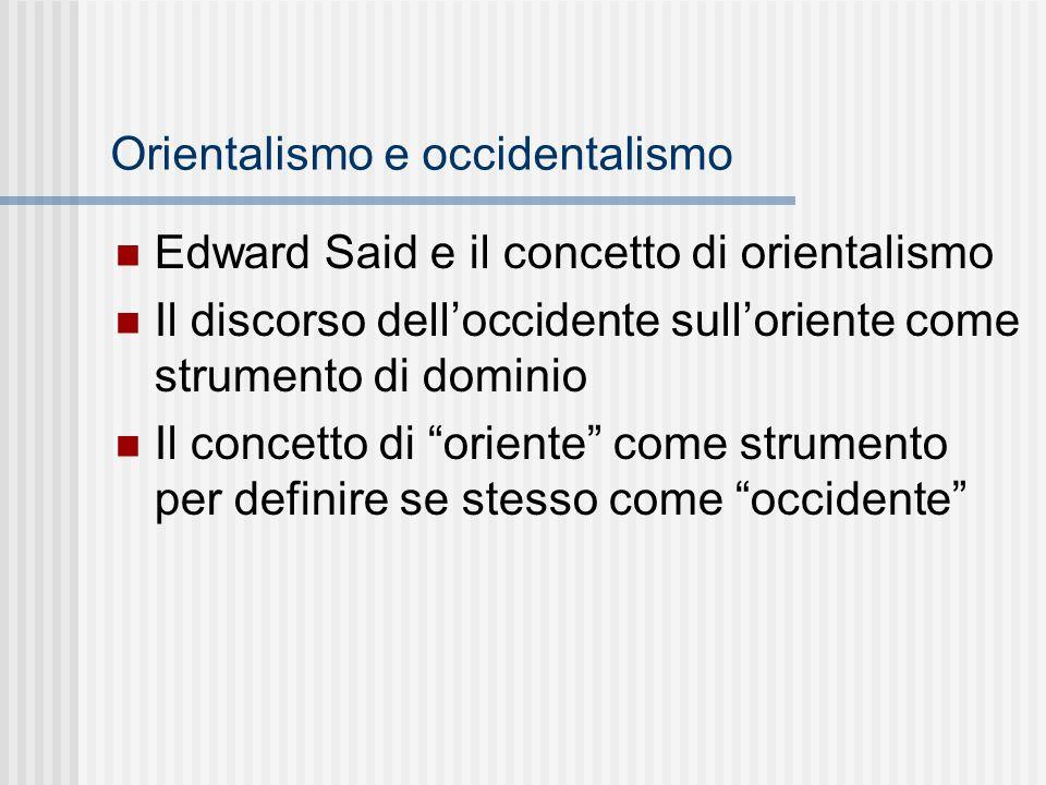 Orientalismo e occidentalismo