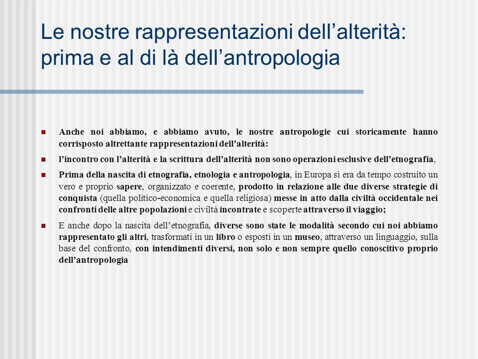 Le nostre rappresentazioni dell'alterità: prima e al di là dell'antropologia