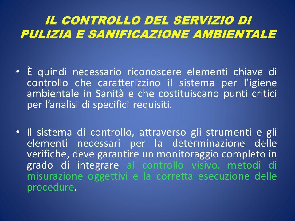 IL CONTROLLO DEL SERVIZIO DI PULIZIA E SANIFICAZIONE AMBIENTALE