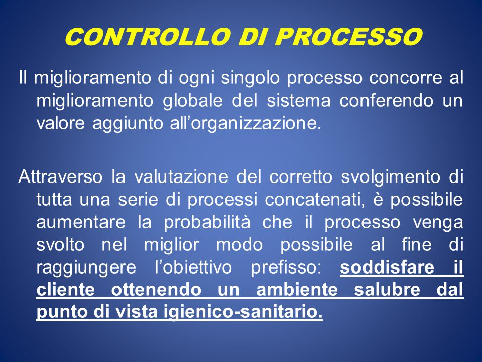 CONTROLLO DI PROCESSO