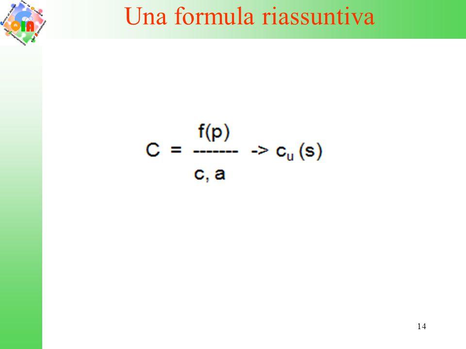 Una formula riassuntiva