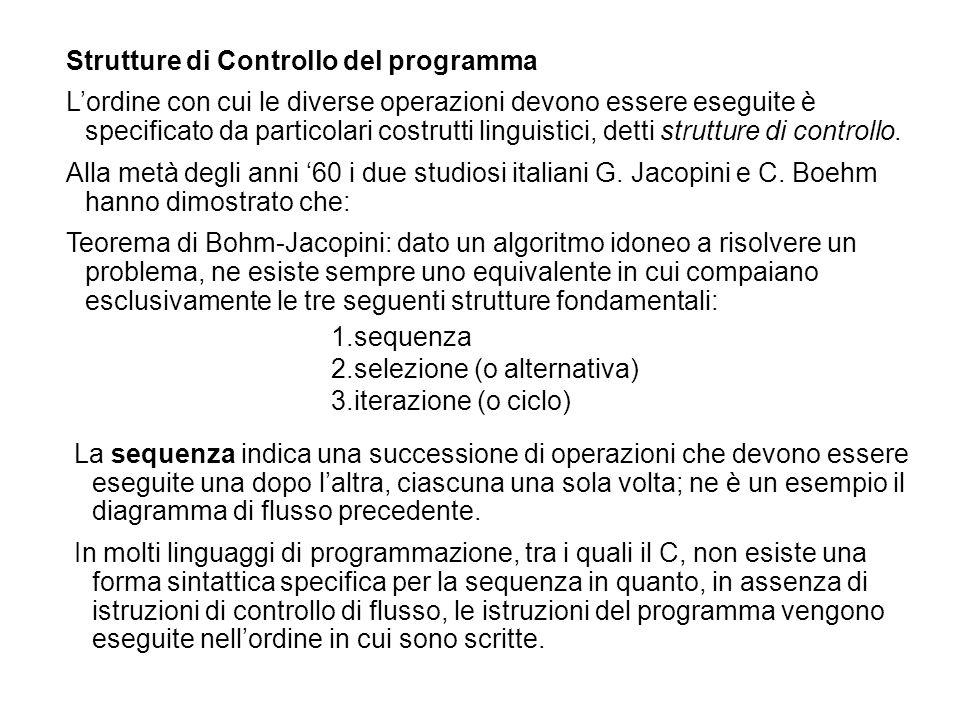 Strutture di Controllo del programma