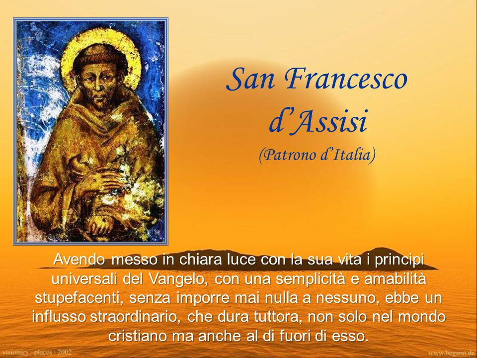 San Francesco d'Assisi (Patrono d'Italia)